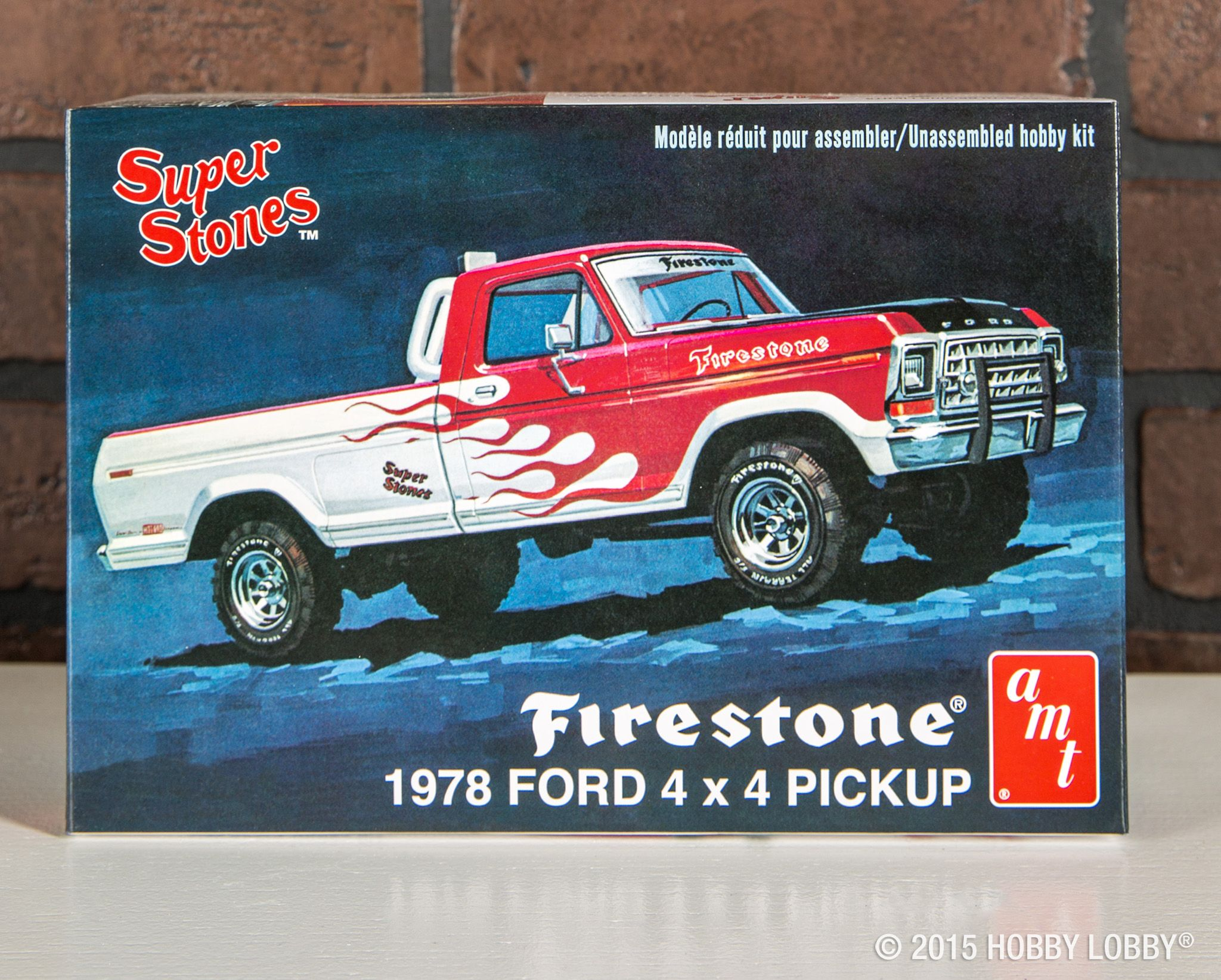 This Newly Re Introduced 1978 Ford Firestone 4x4 Pickup Truck Model Kit Will Provide Hours Of Fun Model Cars Kits Model Truck Kits Ford Pickup