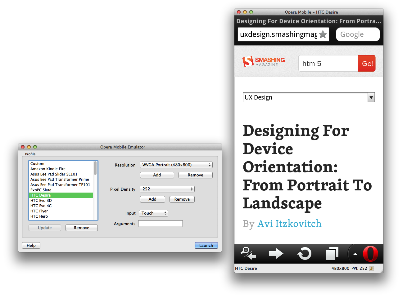 Developing Responsive Designs With Opera Mobile Emulator Responsive Design Opera Design