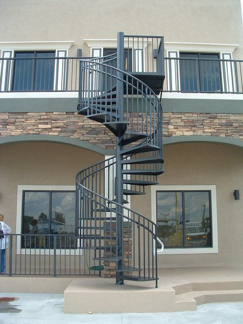 Elegant Outdoor Spiral Staircase #Spiral #Staircase