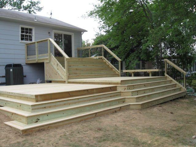 Best Pressure Treated Pine Multi Level Deck In Springfield Va 400 x 300
