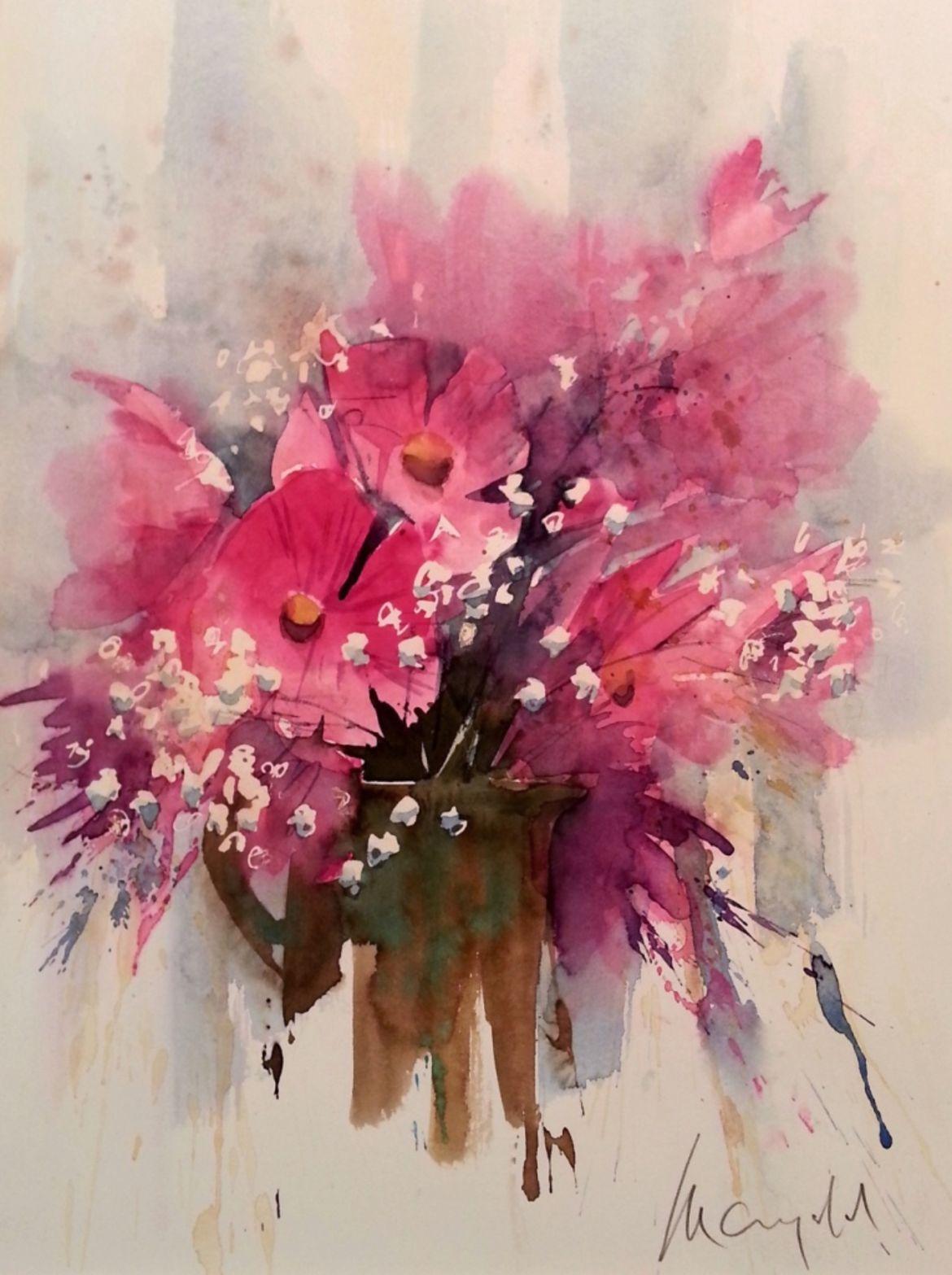 Sitzplan Kreativ Aquarellblumen