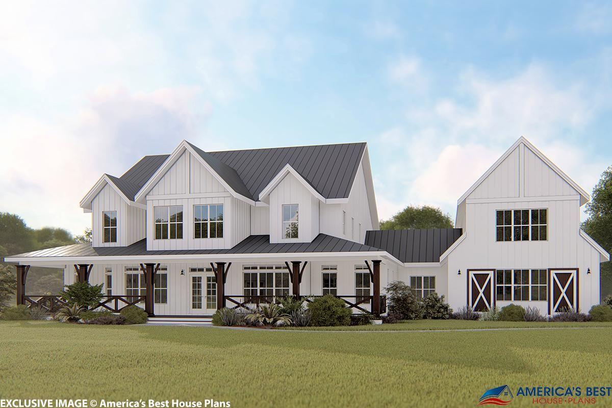 House Plan 6849 00064 Modern Farmhouse Plan 4 357 Square Feet