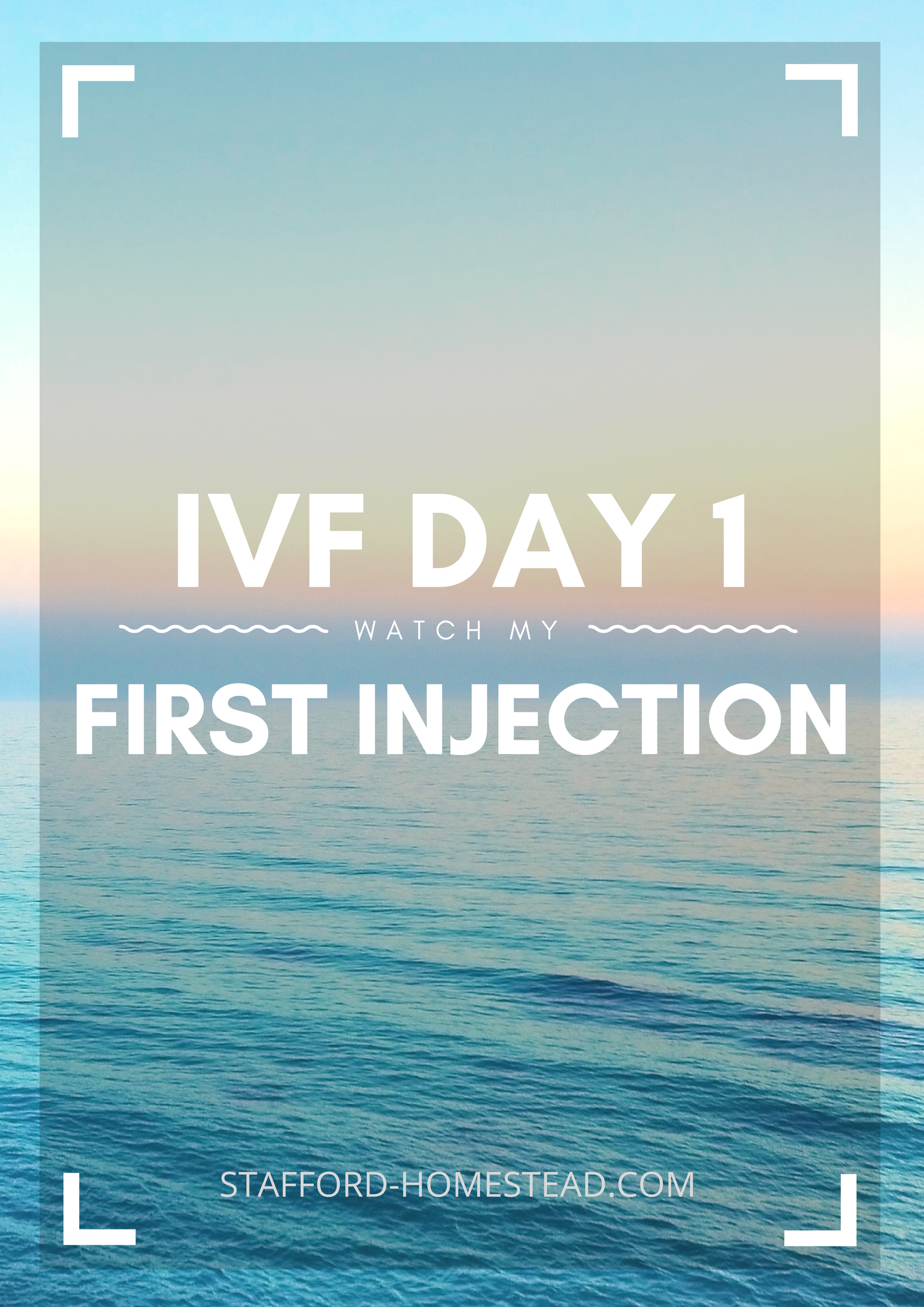 Gonal F Injection: Day 1 Of My First IVF Cycle