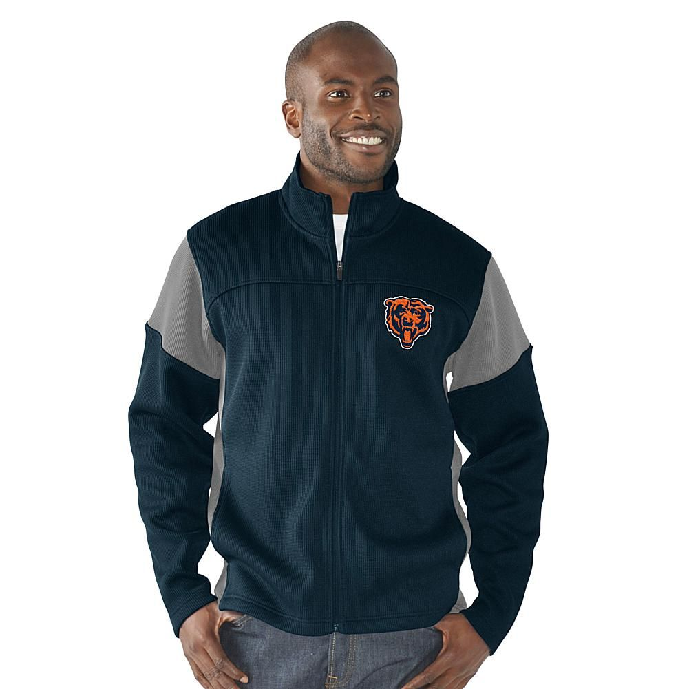 Officially Licensed NFL Draw Play Full Zip Jacket by Glll - Bears