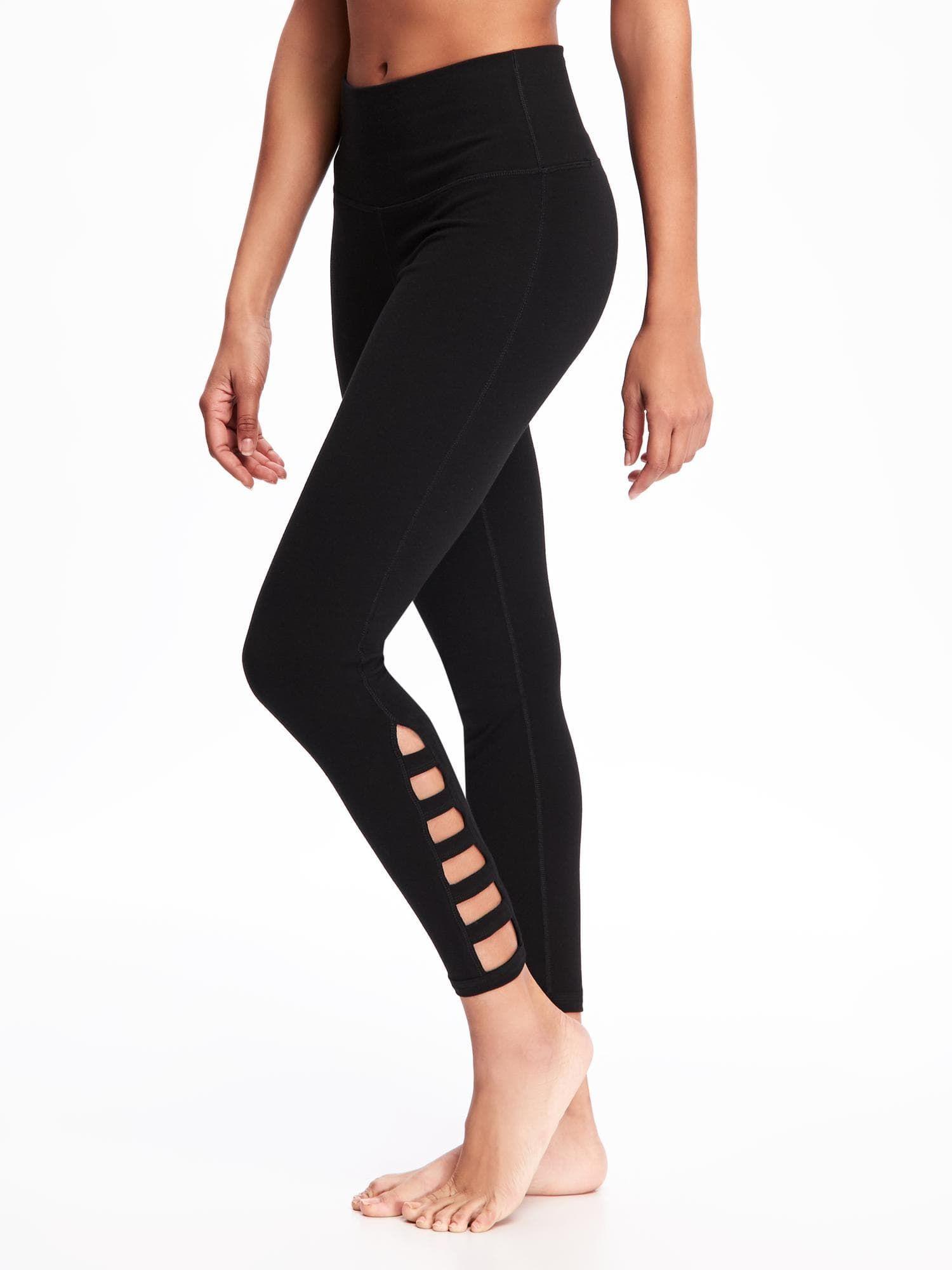 41c75f231ede44 Go-Dry Cool High-Rise Lattice-Work Yoga Leggings for Women | Old Navy