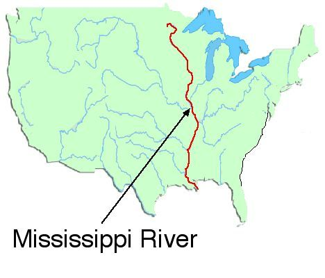 Us Map States Mississippi River Maps Of USA The Bridges And - Mississippi in usa map