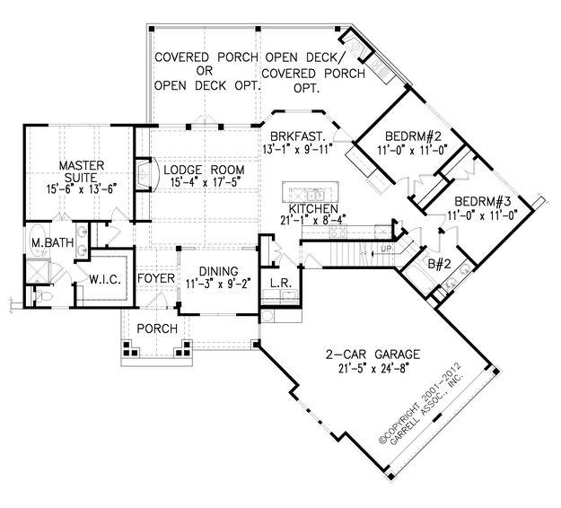 Dream Lake House Floor Plan Floor Plans Craftsman House Plans Ranch House Plans