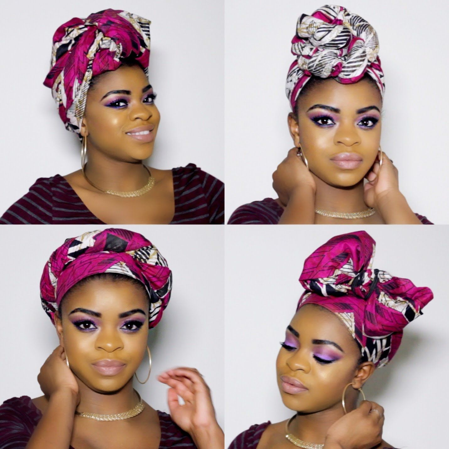 Hey guys check out four quick and easy ways to rock a hair wrap