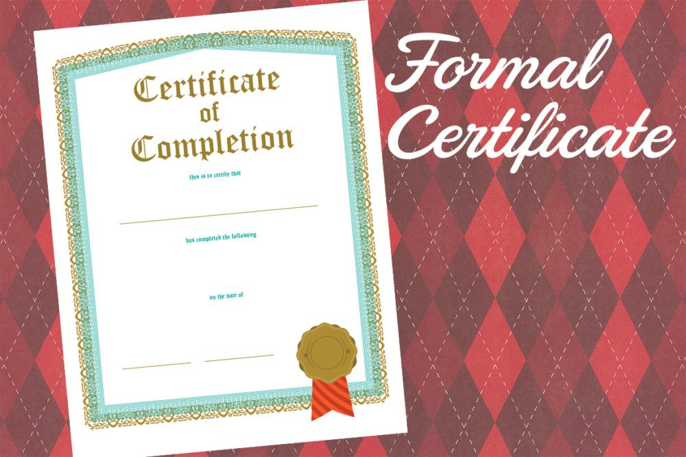 Pdf Formal Certificate Of Completion Template  Certificate Of