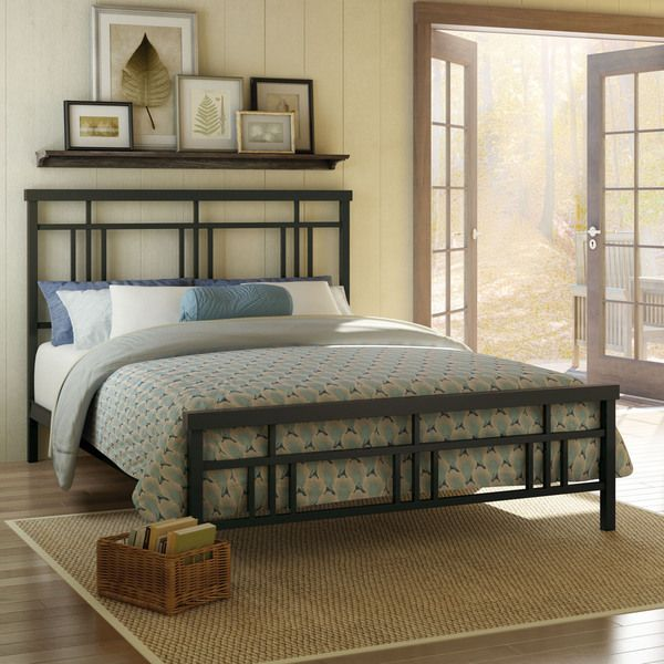 Amisco Cottage 54-inch Full-size Metal Headboard and Footboard (Full Size  in Dark Brown) - Amisco Cottage 54-inch Full-size Metal Headboard And Footboard