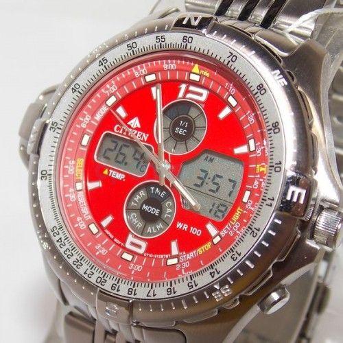 0433f498f79 JS1046-55w Relógio Citizen Combo Temp Promaster Wingman