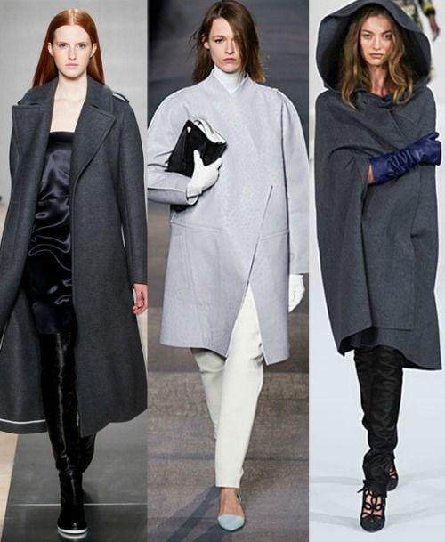 Grey Coat Trend 2013 Fashion Trends Fall Winter 2013 2014