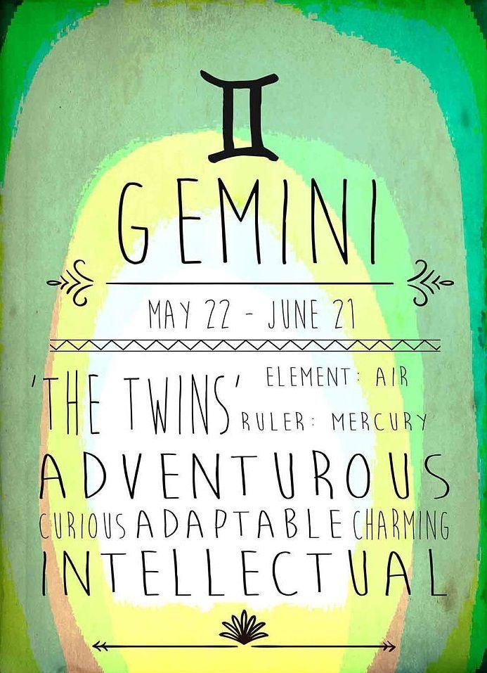 Gemini Adventurous Adaptable Intellectual Gemini Pinterest