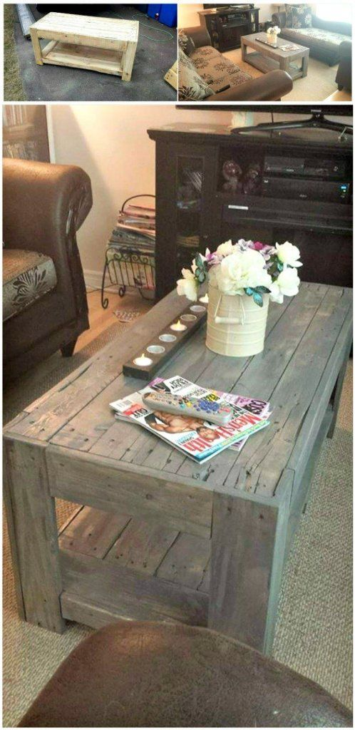 Diy Wood Pallet Coffee Table Easy Pallet Ideas Pallet Furniture Pallet Wood Coffee Table Modern Coffee Table Decor Coffee Table Wood