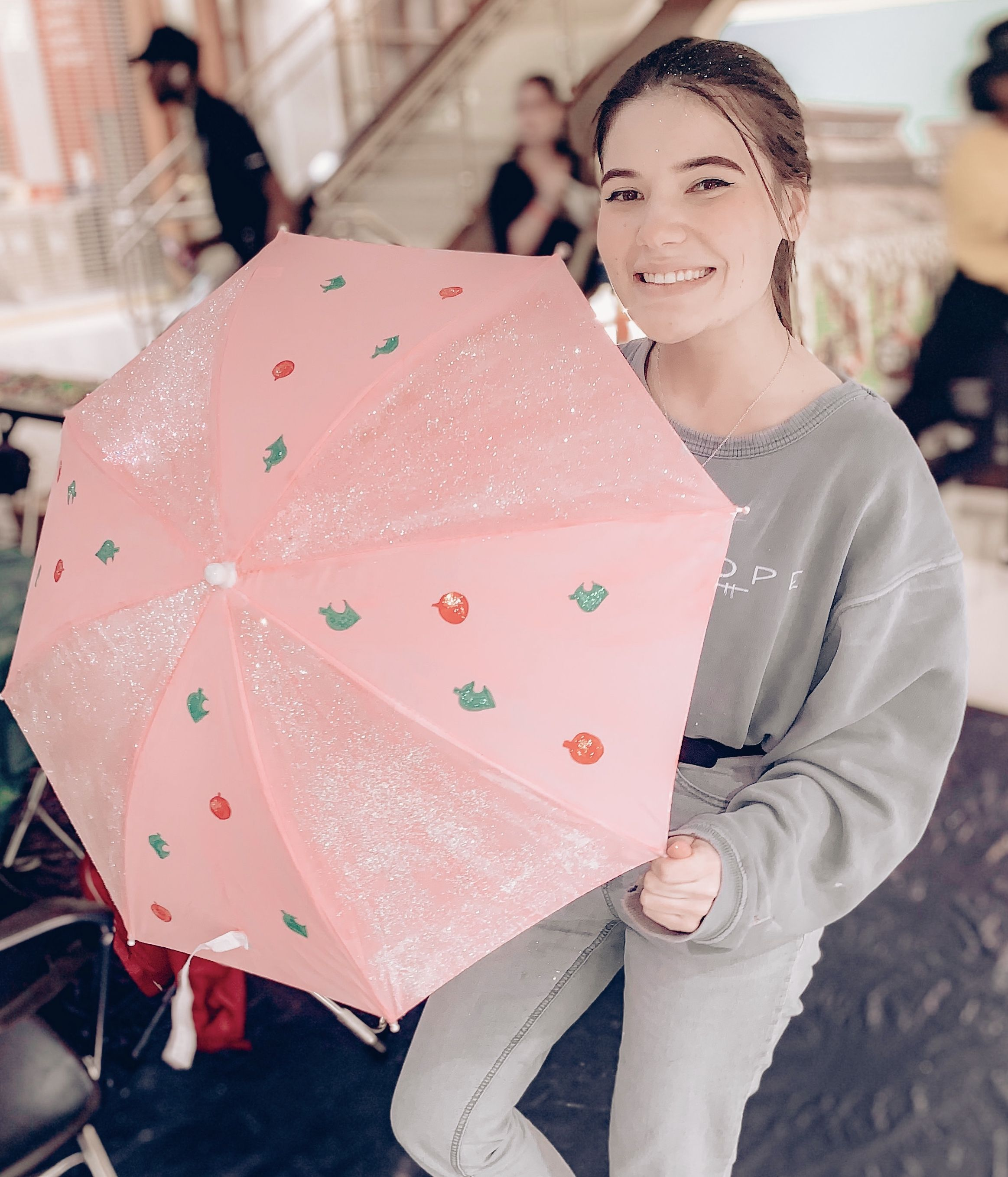 We Had An Umbrella Painting Competition For Mardigras Obviously I