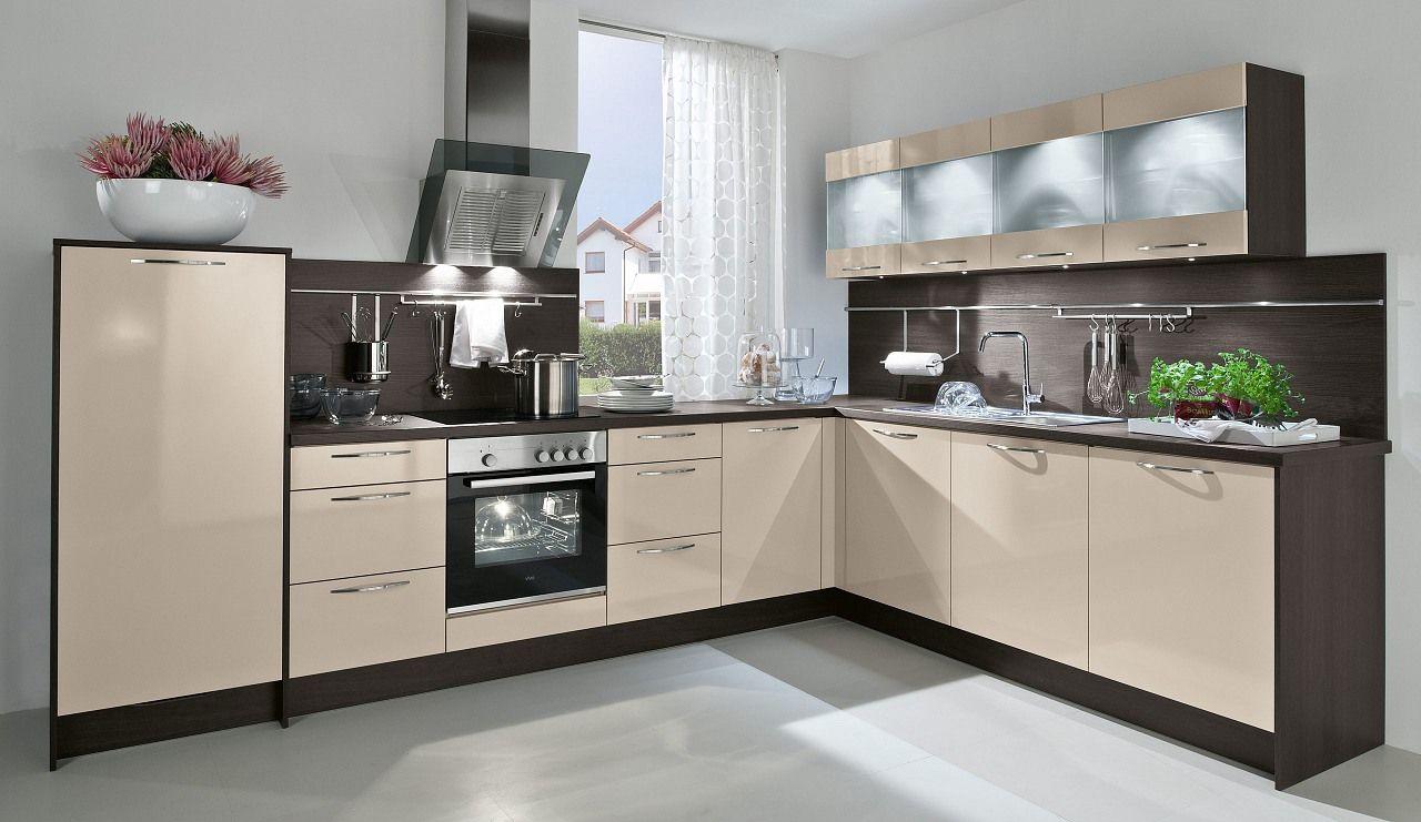 Einbauküche Aspen Kaschmir Glänzend | Einrichten und Wohnen ...