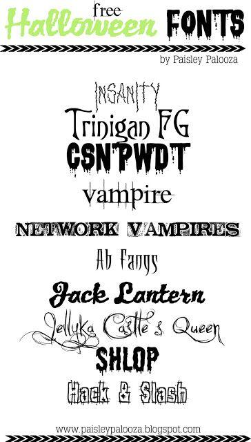 Spooky, creepy, scary, Halloween fonts  FREE! | words