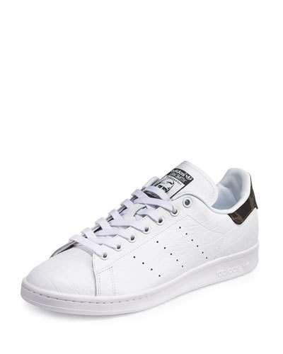 Adidas Men's Stan Smith Original Sneaker wCamo Patch White