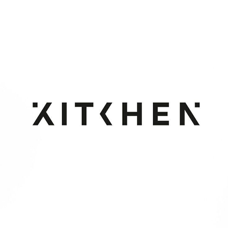 Typography inspiration characters create and logos for Kitchen decoration logo