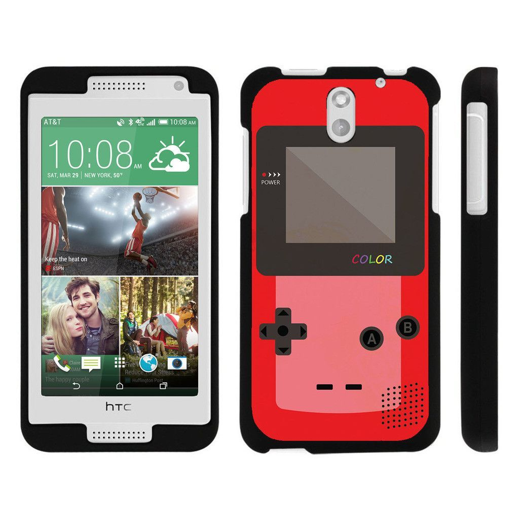 HTC Desire 610 Case SNAP SHELL Slim Fitted Snap on case - Red Gameboy Color