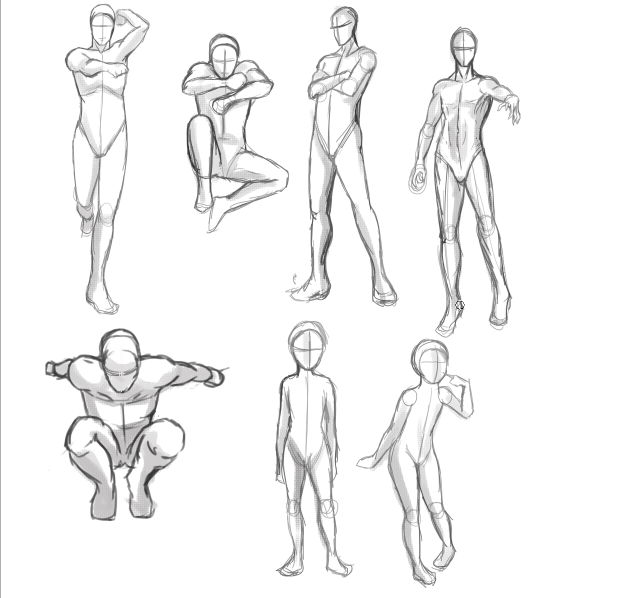 Start with Armatures When Learning to Draw Figures
