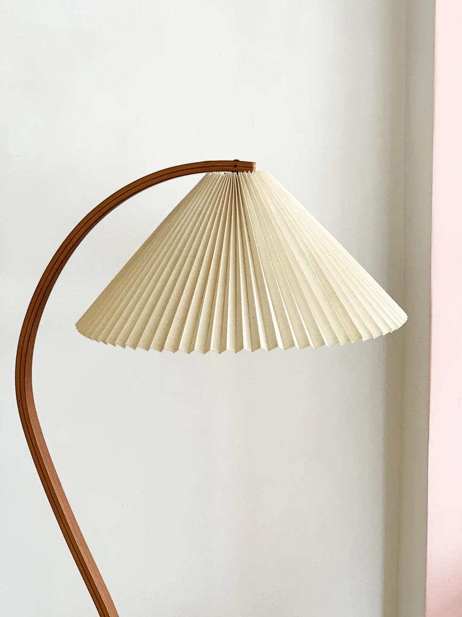 1970s Danish Bent Teak Mads Caprani Pleated Floor Lamp In 2020