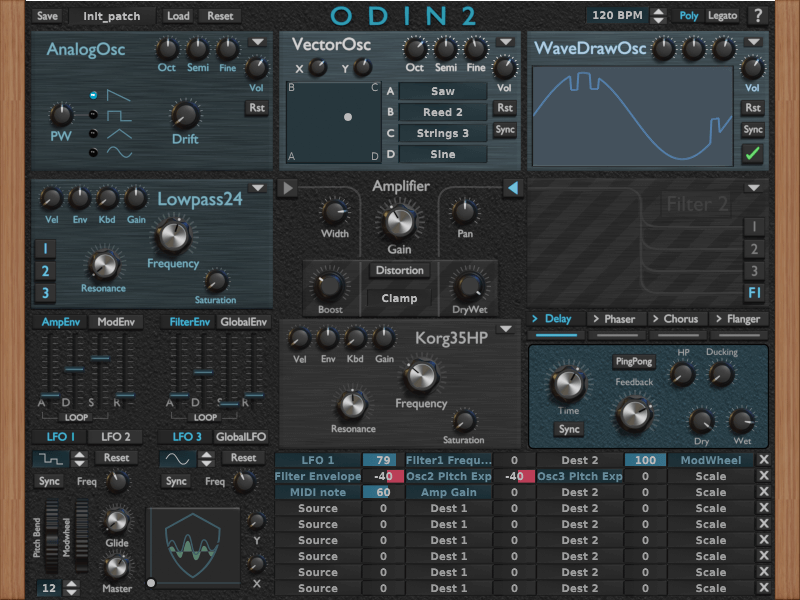 Thewavewarden Releases Odin 2 0 14 Beta Free Synth Plugin Synthesizer Freeware Music Software
