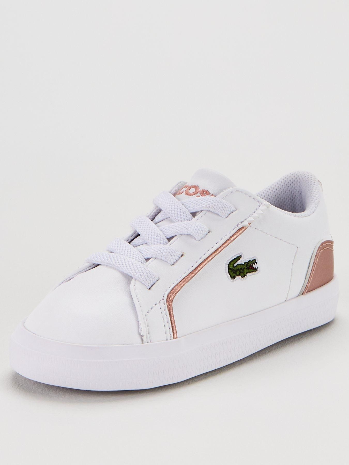 white and pink lacoste trainers - 54