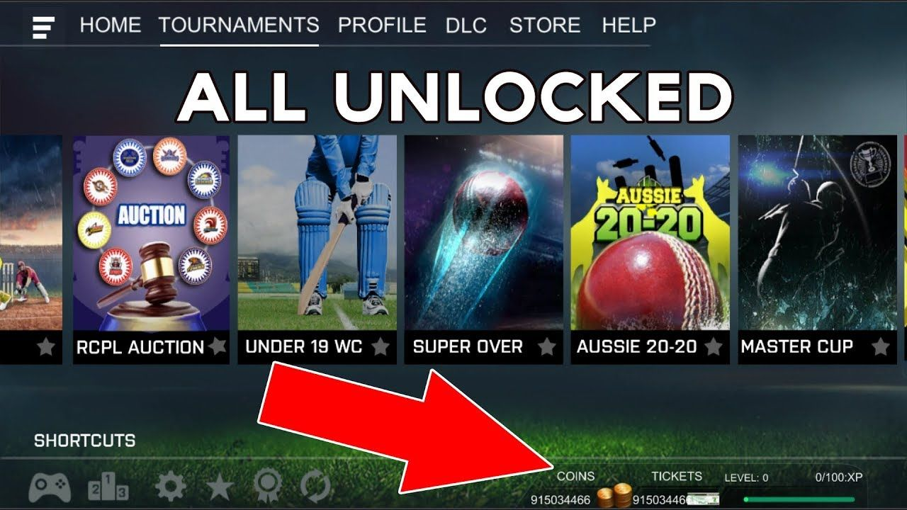 Real Cricket 18 Mod APK - Unlimited Coins & Tickets, All
