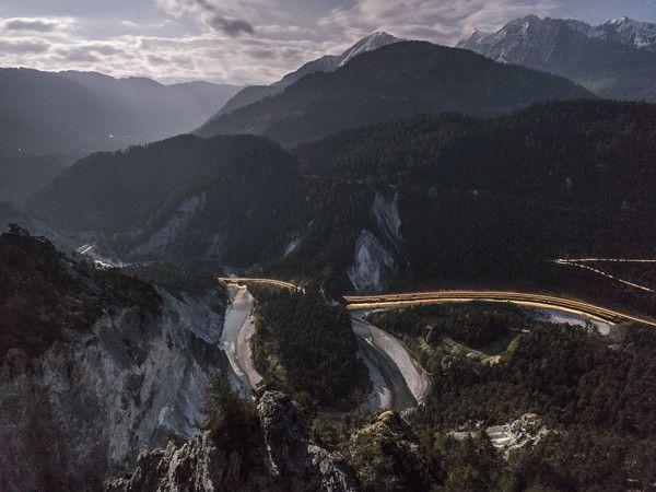 Rheinschlucht, Conn, Graubünden, Schweiz