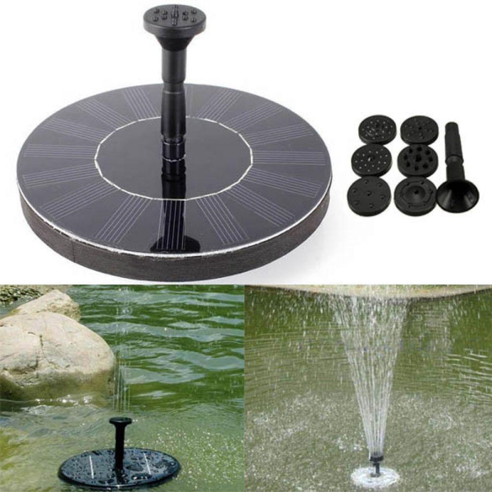 Solar Power Floating Brushless Water Pump Garden Landscape