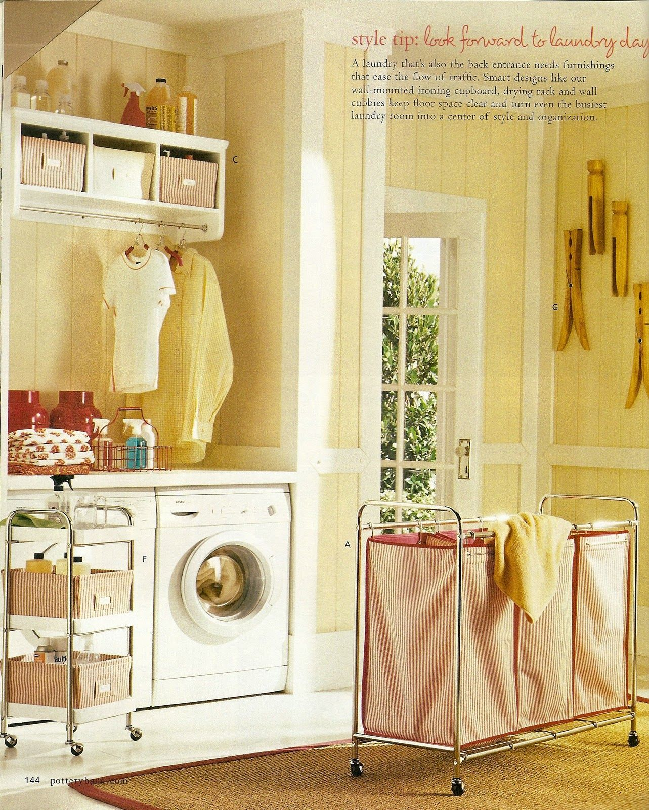 Laundry room ideas. I really like the shelf with hanging rod. | For ...
