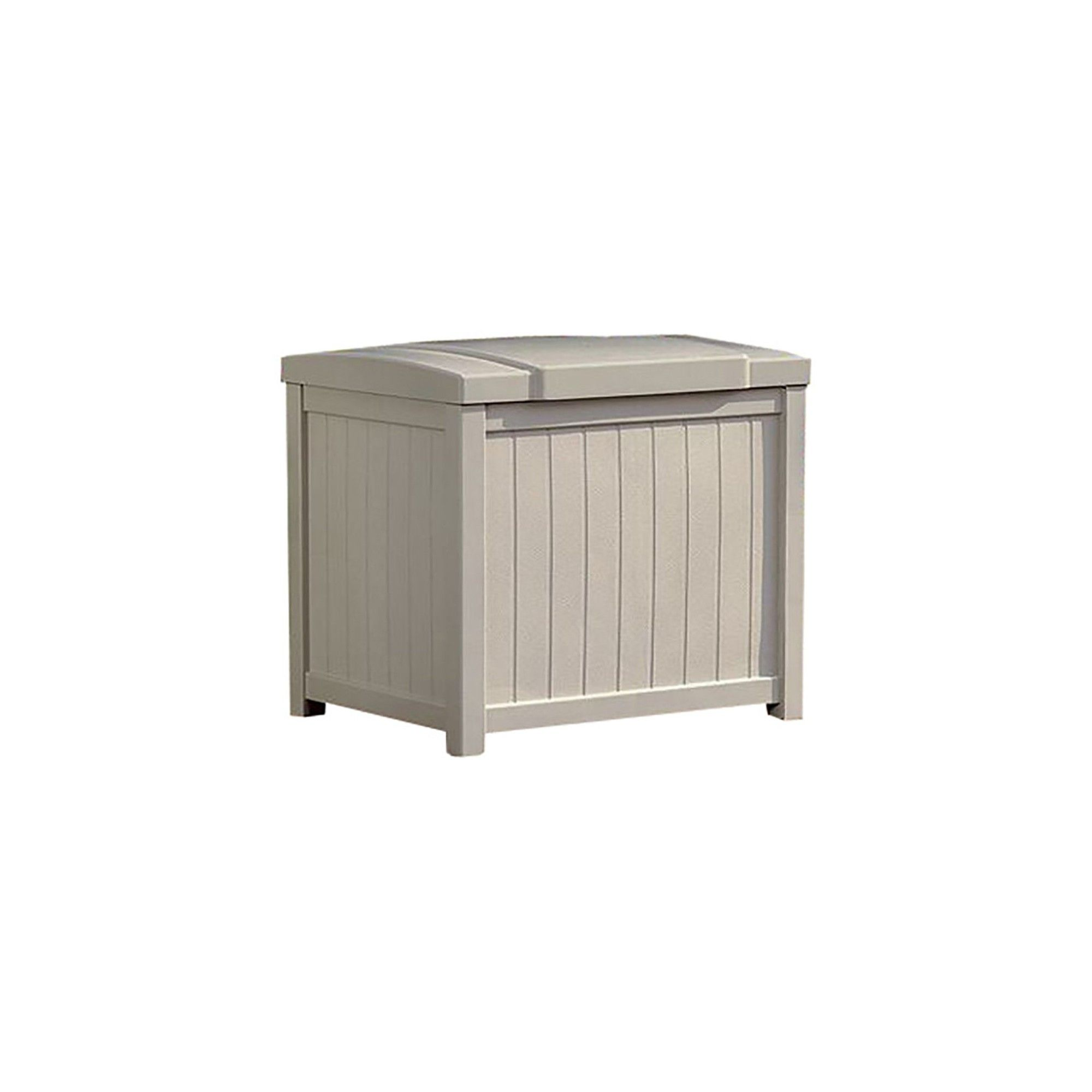 Suncast 22 Gallon Yard And Garden Stay Dry Resin Deck Box Light Taupe Ss900 Deck Box Deck Pool Supplies