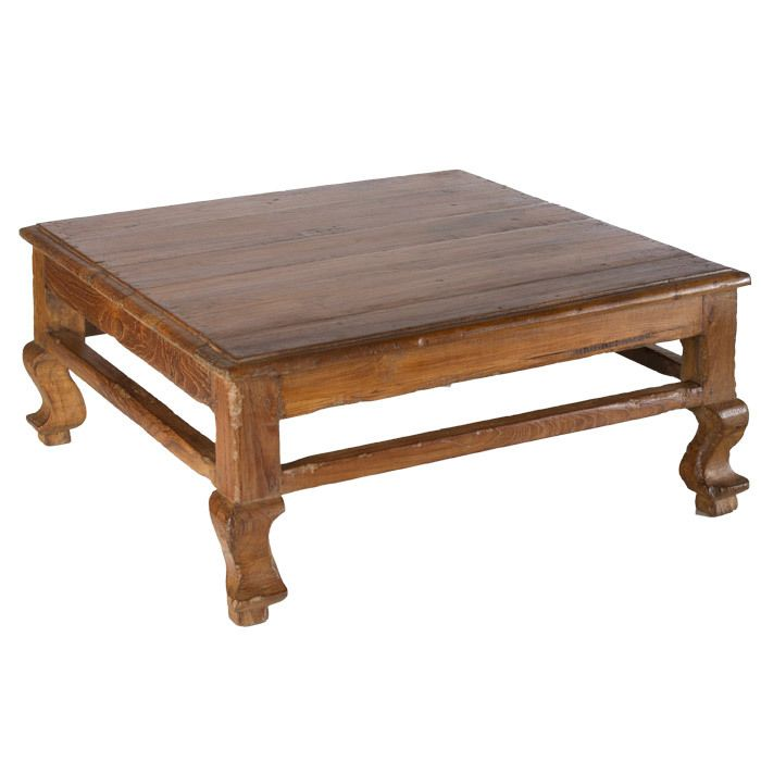 teak wood coffee table (With images) | Coffee table ...