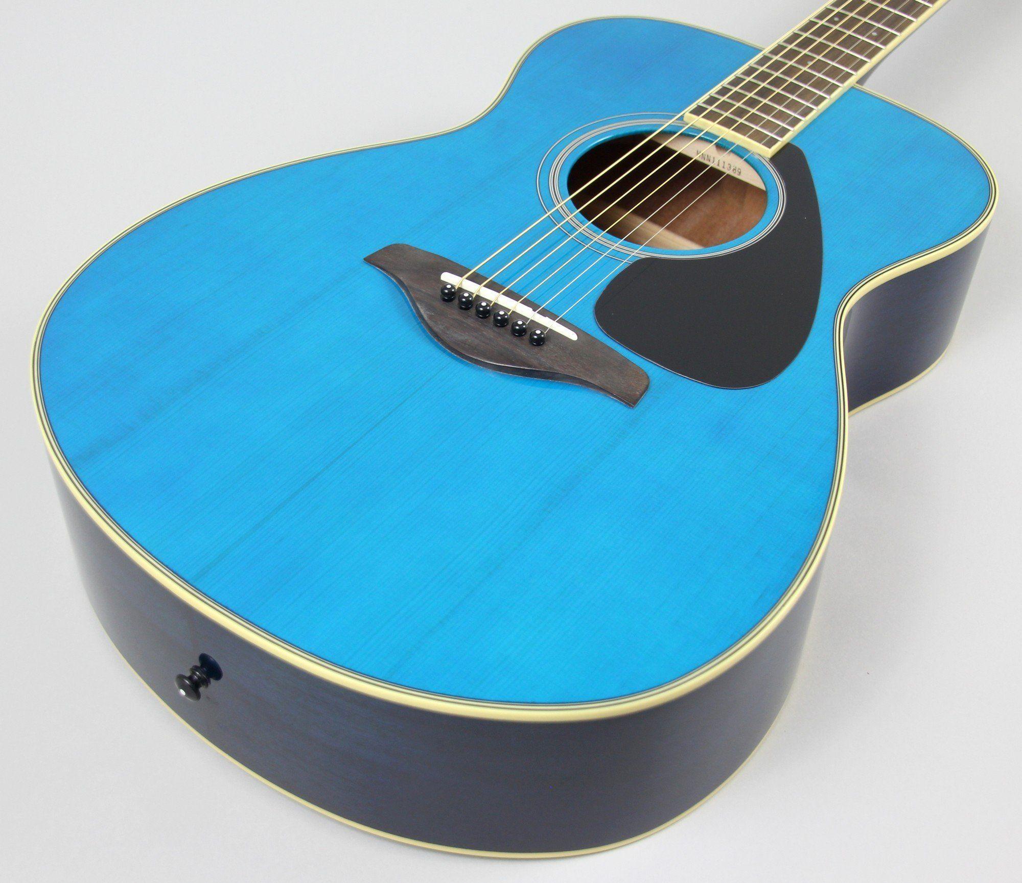 Yamaha Fs820tq Acoustic Guitar Turqoise Yamaha Guitar Guitar Yamaha Acoustic