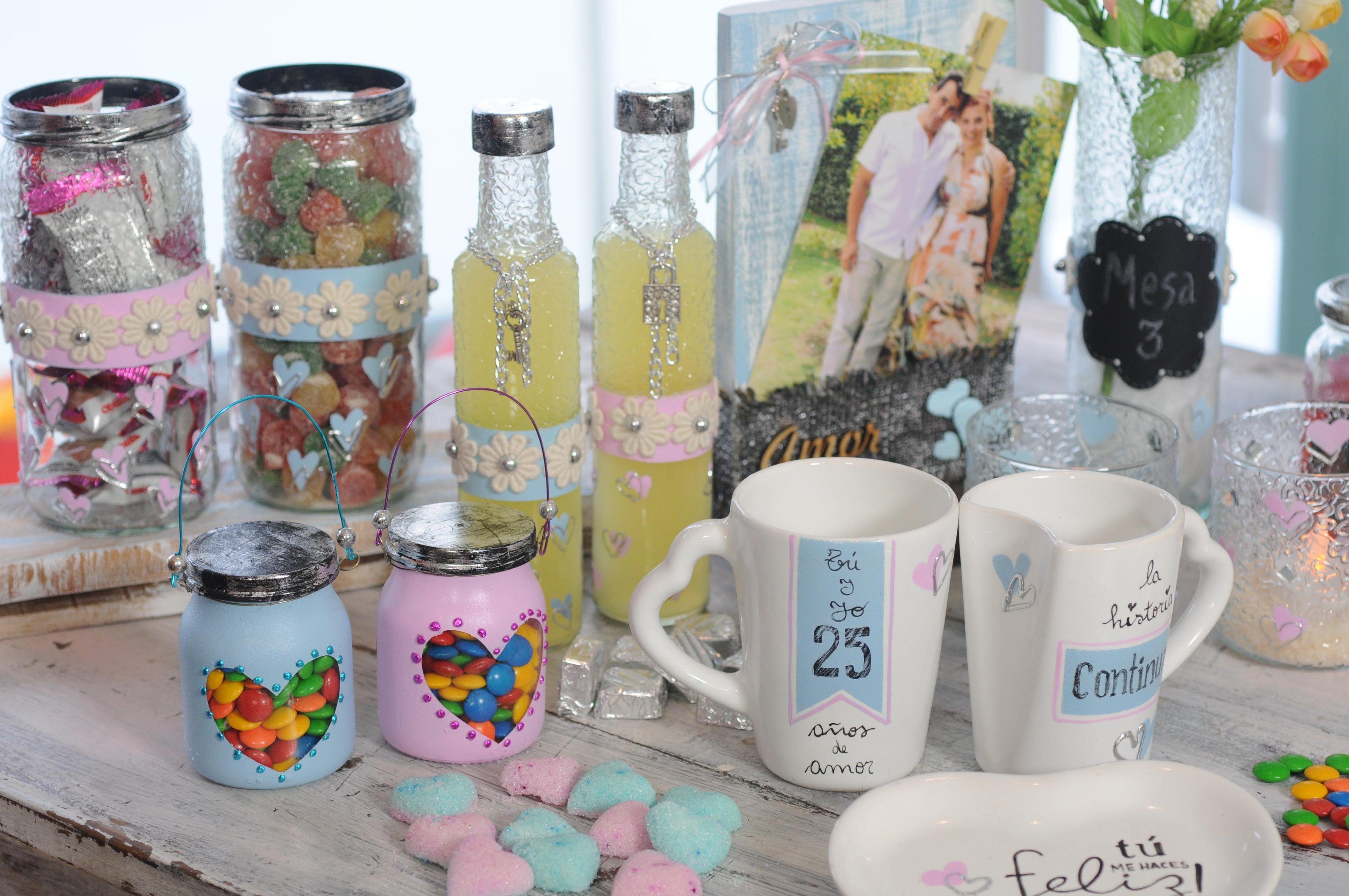 Pintar vidrio vajilla ideas para decorar mesas y candy - Vajilla shabby chic ...