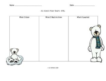 Polar Bear Kwl Chart  Chart Graphic Organizers And Students