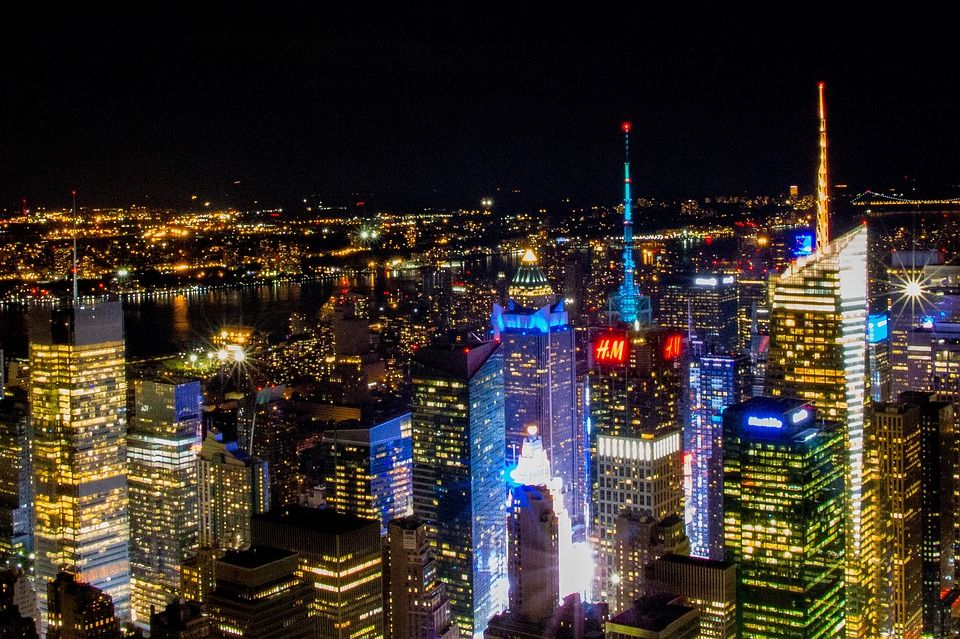 New York S Nachts Empire State Building Partir A New York Voyage New York