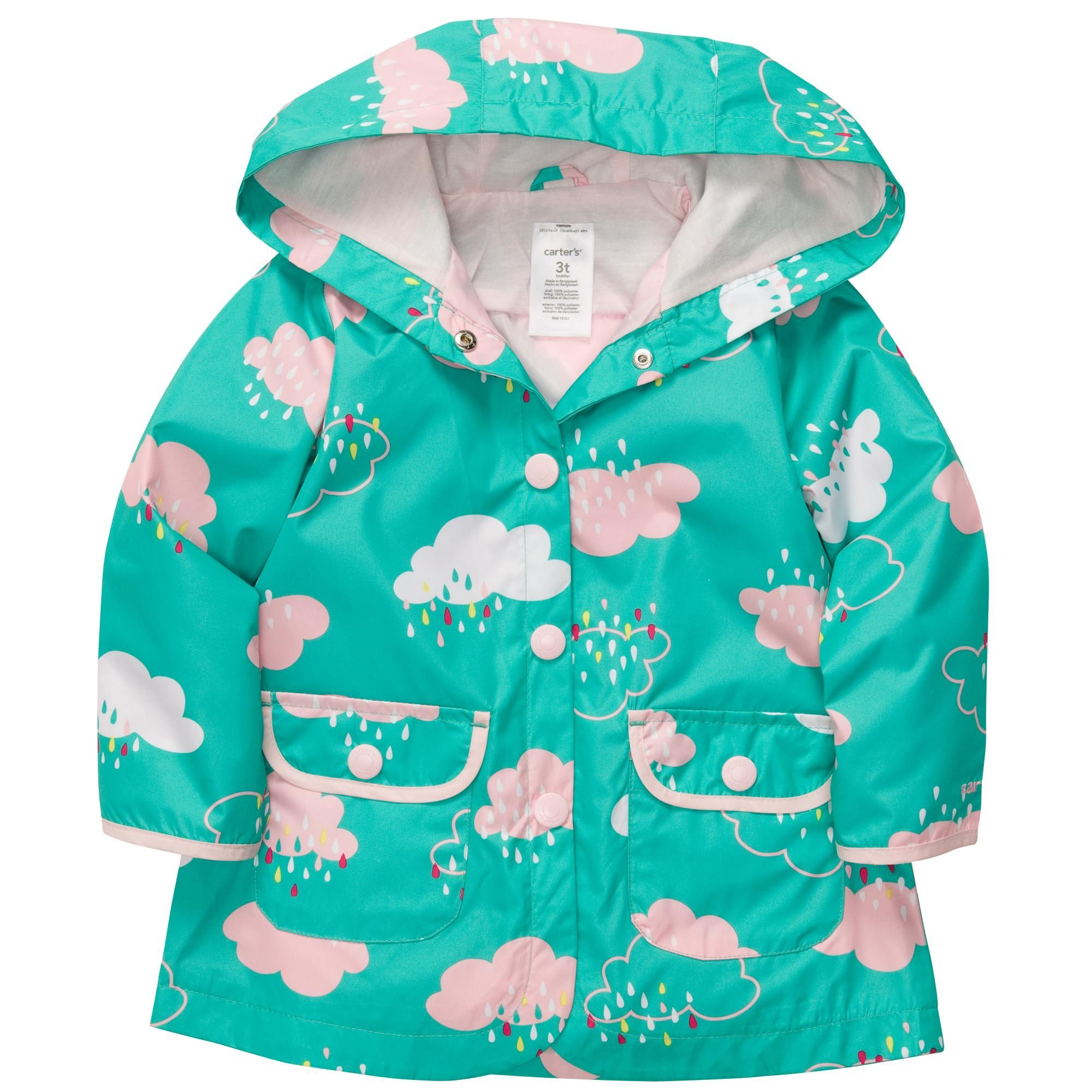 Hooded Rain Jacket | Baby Girl Jackets & Outerwear | Sweet Baby ...