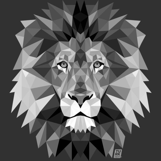 2a72e7e23d2 Geometric Lion is a T Shirt designed by joshuaturk to illustrate your life  and is available at Design By Humans