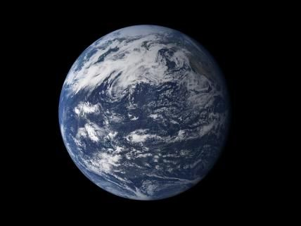 Viewed from space, the most striking feature of our planet is the water. In both liquid and frozen form, it covers 75% of the Earth's surface. It fills the sky with clouds. Water is practically everywhere on Earth, from inside the planet's rocky crust to inside the cells of the human body.