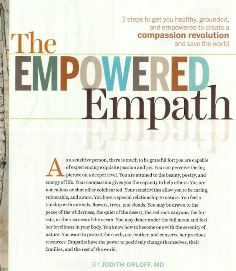 Spirituality And Health The Empowered Empath With Judith Orloff Md Empath Intuitive Empath Empath Traits