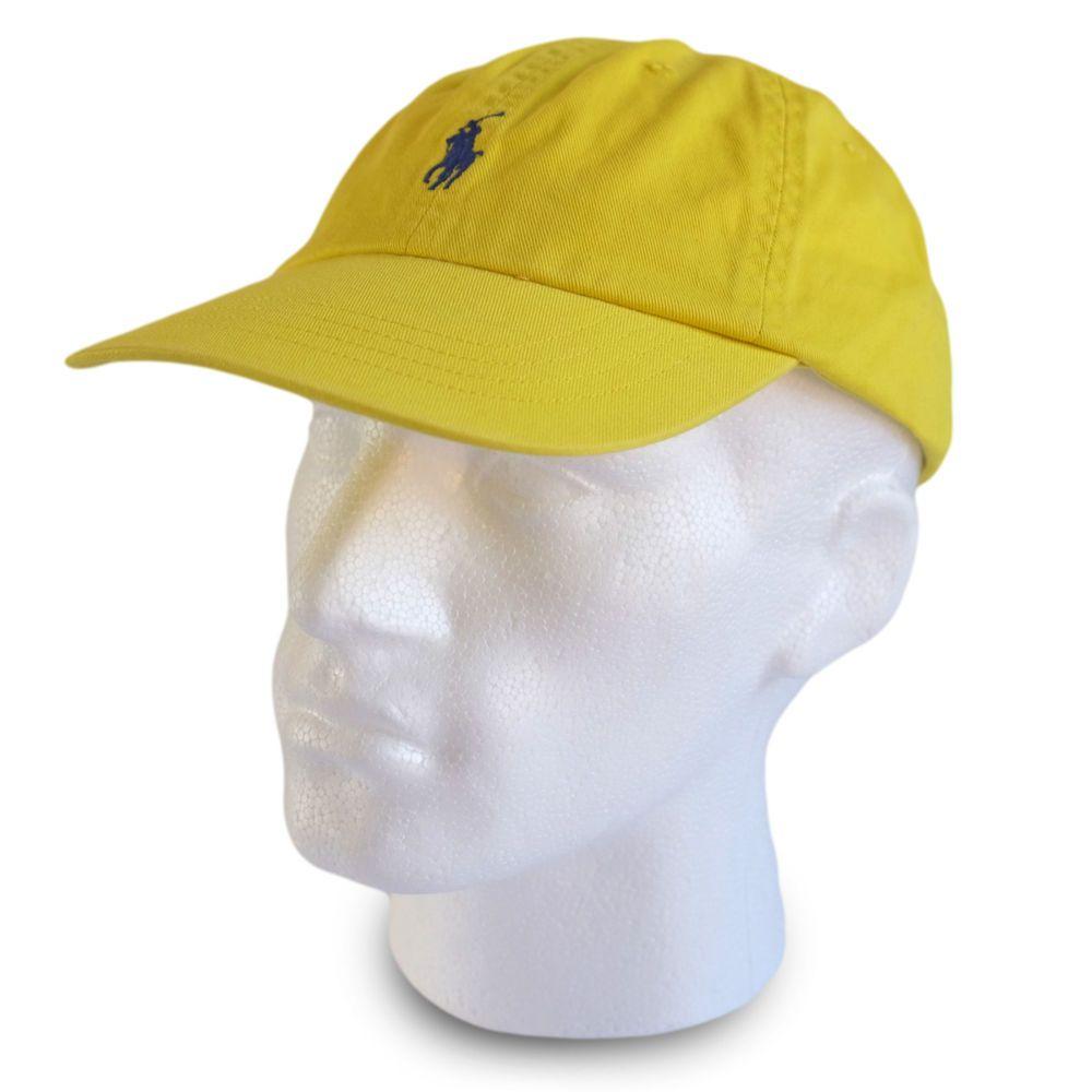 polo ralph baseball cap hat lemon yellow colour