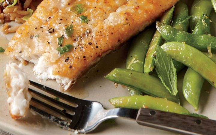 Browned Butter Flounder With Lemon Snap Peas From The Cooking Light Diet