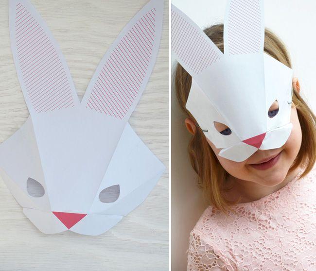 Bastelvorlage Hasenmaske Diy Crafts Pinterest Easter Happy