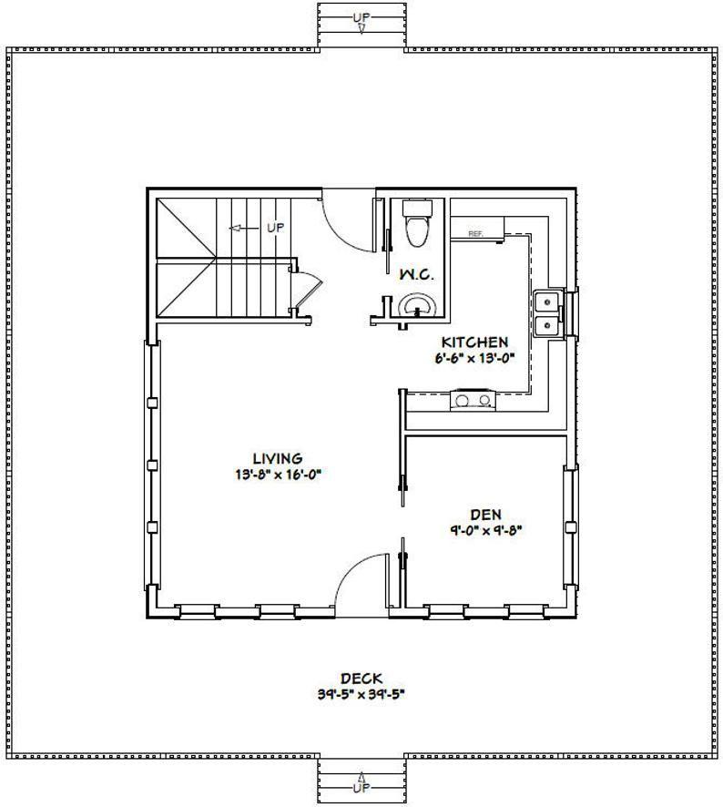 24x24 House -- 2-Bedroom 1.5-Bath -- 1,059 sq ft -- PDF ...