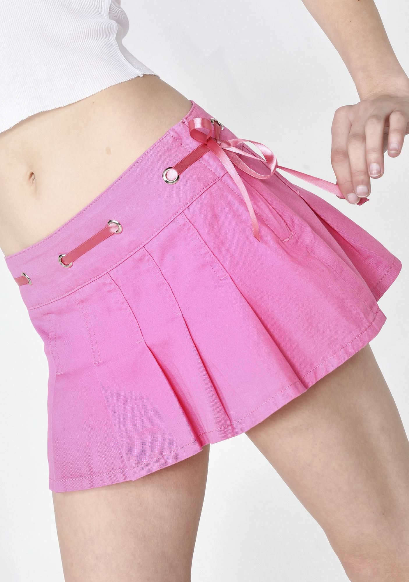 Micro Mini Skirt Pleated Denim Jeans