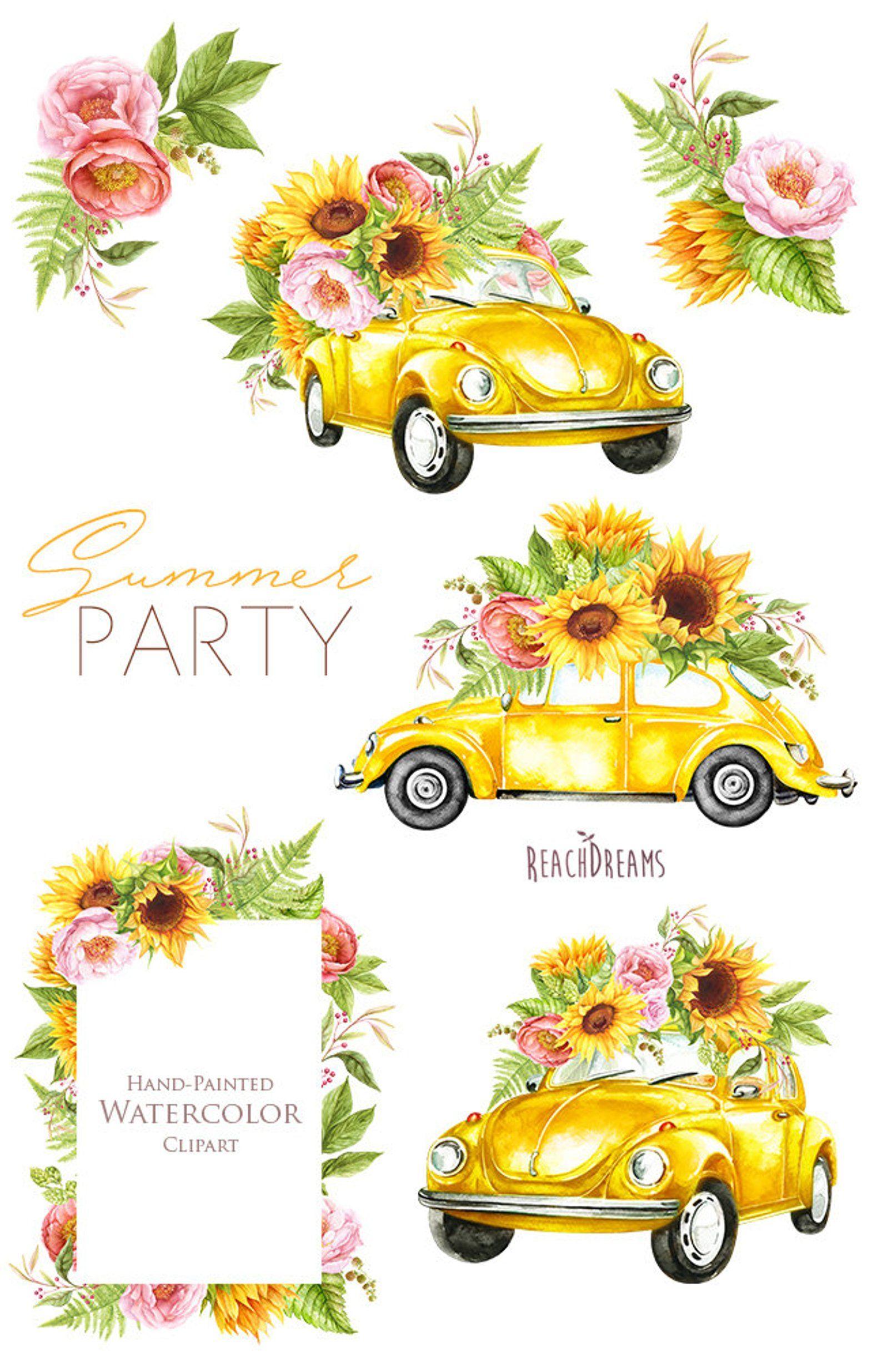 Original Watercolor Flowers Watercolor Yellow Flower Artwork