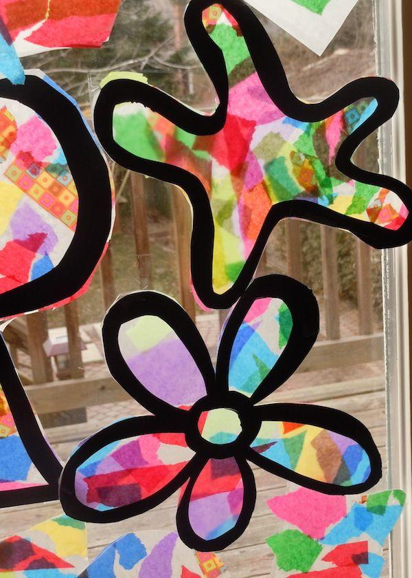Manualidades con papel c mo hacer una vidriera - Como hacer una vidriera ...