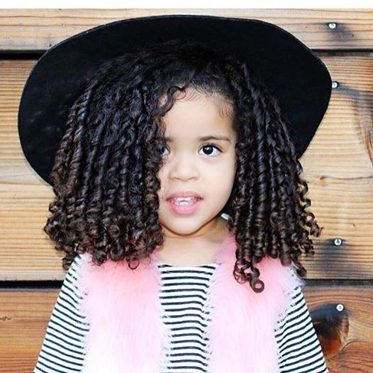 Hairstyles For Girls With Mixed Hair: Pretty Coils @mshastaleenbailey